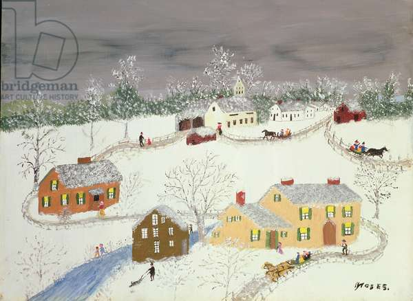 Early Snow (oil on canvas)