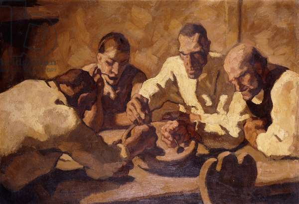 The Meal (First Constitution); Die Mahlzeit (Erste Fassung), 1920 (oil on canvas)