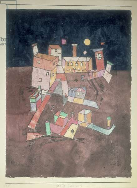 Part of G, 1927 (no 245) (w/c & oil transfer on paper on cardboard)