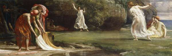 Nausicaa and her Maidens playing at Ball, 1875 (oil on canvas)