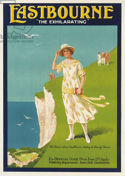 'The Exhilarating', poster advertising Eastbourne (colour litho)