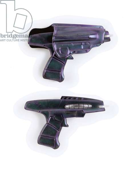 Xindi pistols, props used by the Xindi Reptilians in the third season of 'Star Trek: Enterprise', c.2003 (rubber & plastic)