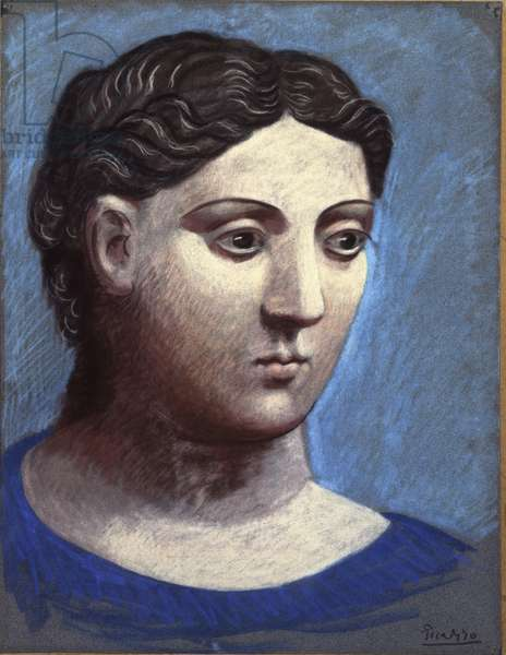Head of a woman, 1921 (pastel on paper)