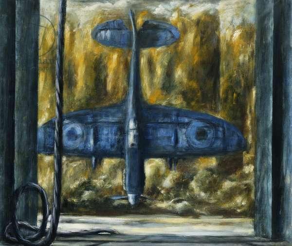 Spitfire 1990-91, (gouache on paper)