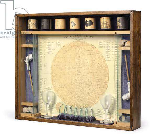Magic Soap Bubble Set, 1940 (wood, glass, printed paper, paint, seashells, velvet, clay pipes, rubber bands, nails)