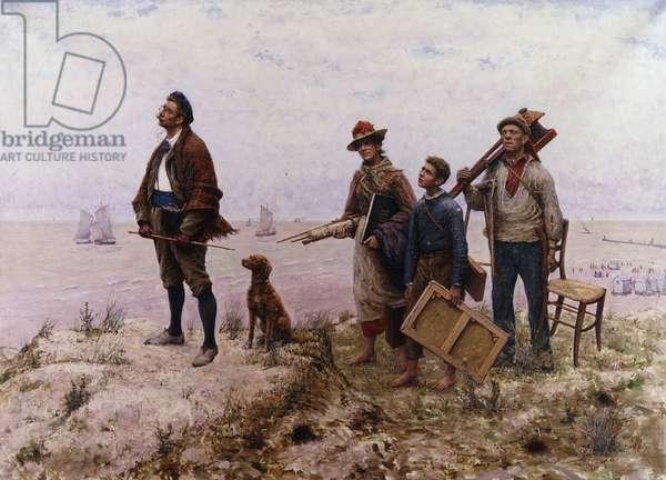 An Amateur Painter; Un Peintre Amateur, (oil on canvas)