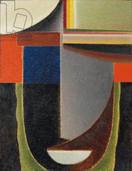 Abstract Head: Andante; Abstrakter Kopf: Andante, 1933 (oil on board)