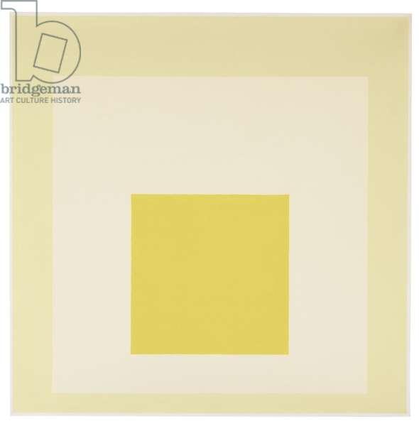 Homage to the Square: White Nimbus, 1964 (oil on masonite)