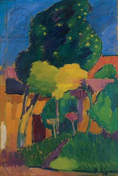 Murnau, 1908 (oil on board)