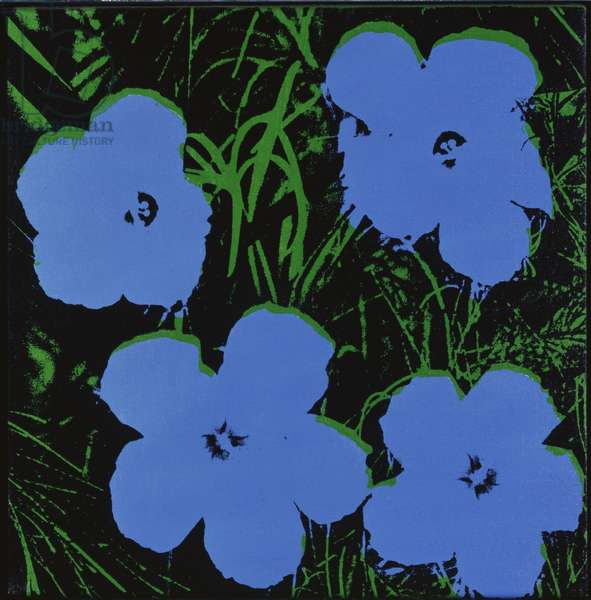 Flowers, c.1965 (synthetic polymer silkscreened on canvas)