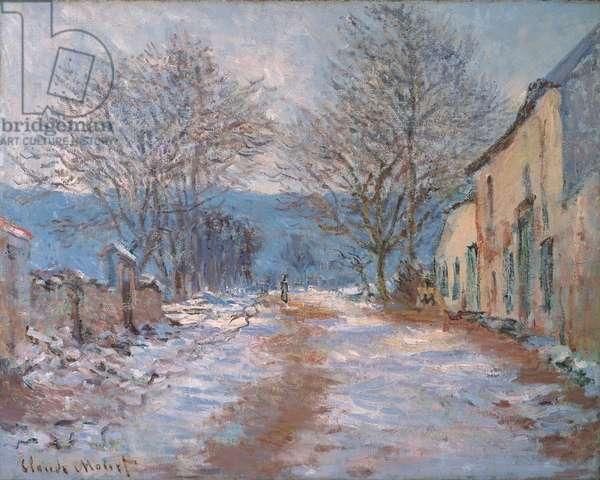 Snow in Limetz; Effet de neige a Limetz, 1886 (oil on canvas)