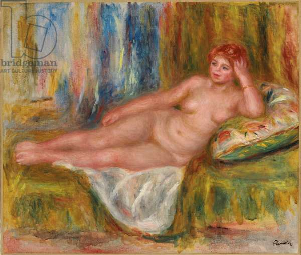Reclining Female Nude; Femme nue couchee, 1918 (oil on canvas)