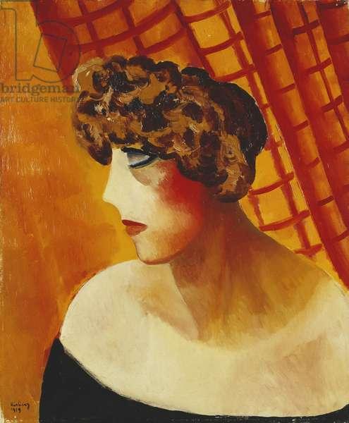 Profile with Blue Eyes; Profil aux Yeux Bleus, 1919 (oil on canvas)
