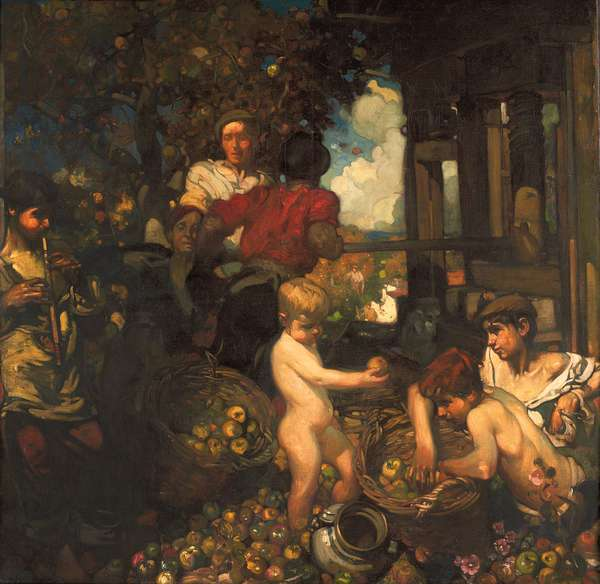 The Cider Press  (oil on canvas)