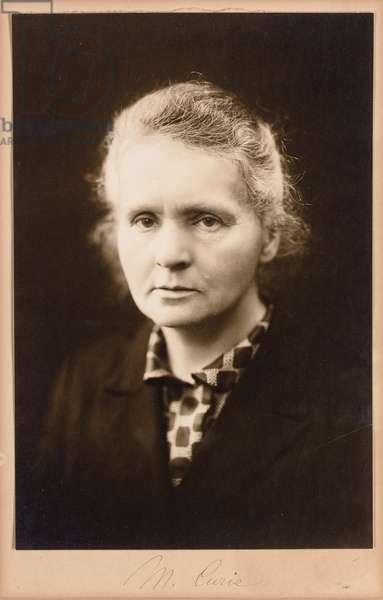 Marie Curie, c.1920 (b/w photo)