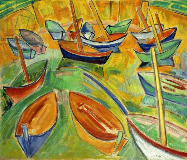 The Barges at Martigues; Le Barques a Martigues, c.1907 (oil on canvas)