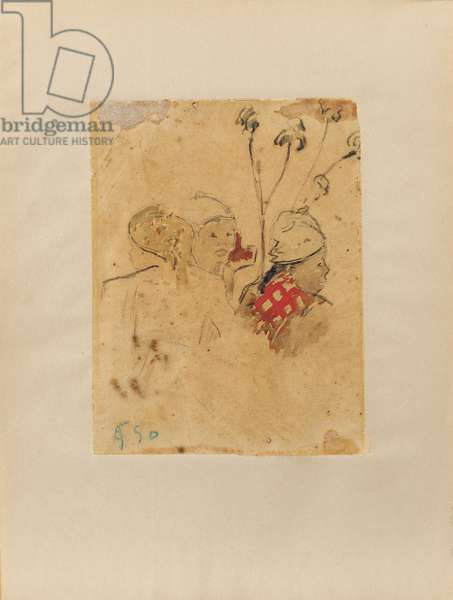 Heads and Vegetation, 1887 (w/c on paper)