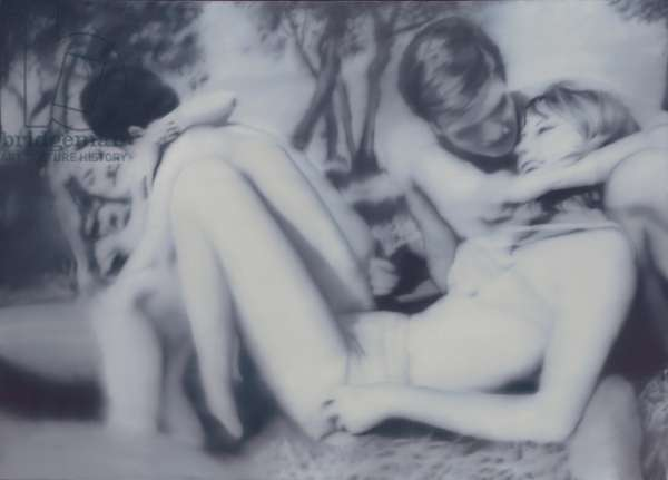 Two Lovers; Zwei Liebespaare, 1966 (oil on canvas)
