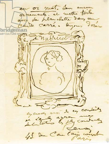 Autograph letter signed to Dr. Fritz Thurneyssen, Paris and Les Collettes, 24th June 1908 (pen & ink on paper) (see also 994343)
