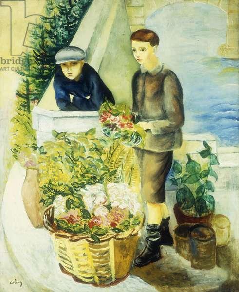 Flower Sellers; Marchands de Fleurs, 1918 (oil on canvas)