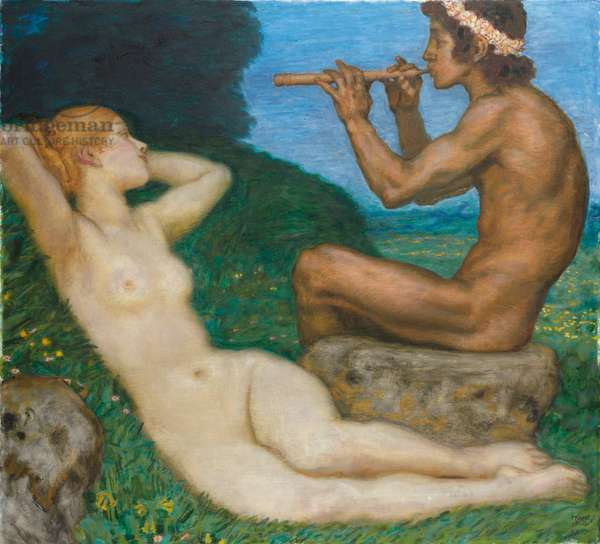 Spring Love; LiebesfrŸhling, 1917 (oil on canvas)