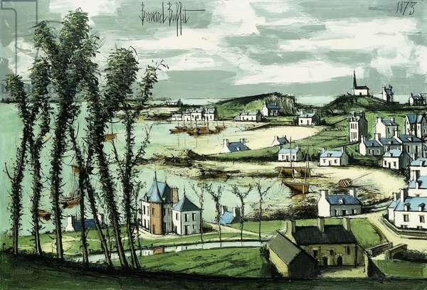 Island of Brehat; Ile de Brehat, 1973 (oil on canvas)