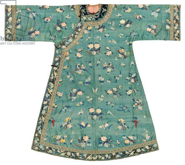 Jade-ground Kesi lady's robe, mid 19th century (textile)