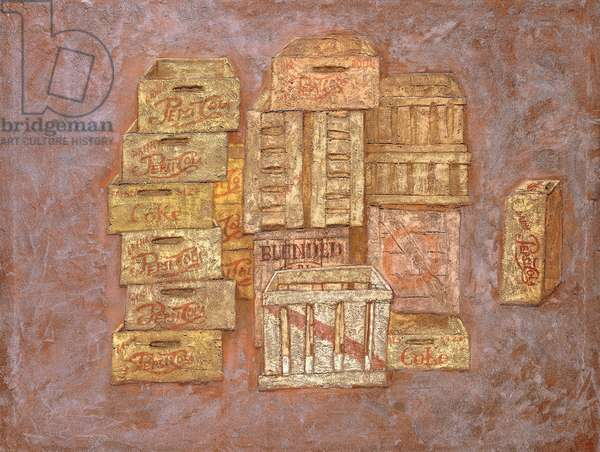 Citta, 1960 (tempera and sand on canvas)