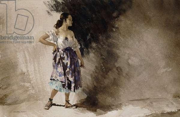 Jasmin,  (watercolour)