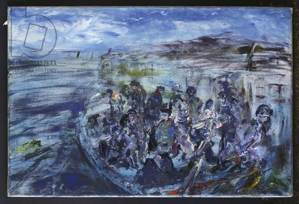 With the Ebb, 1949 (oil on canvas)