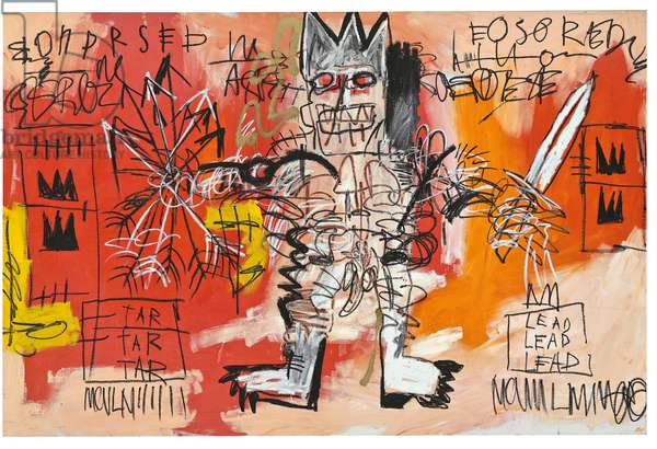 Untitled, 1981 (acrylic, oilstick & metallic spray enamel on canvas)