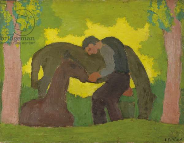 Man with Two Horses, 1890 (oil on board)