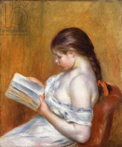 Reading; La Lecture, 1888 (oil on canvas)