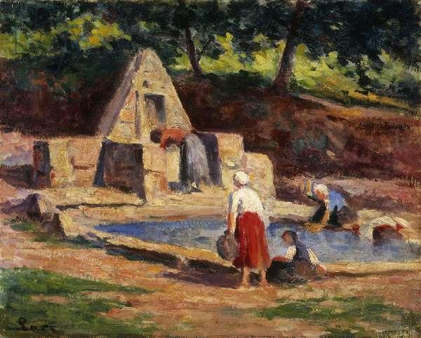 Laundry Maids, Kermouster; Kermouster, Les Lavandieres, 1914-1915 (oil on canvas)