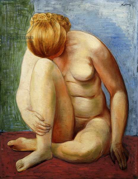 Nude Woman Sitting; Femme Nue Assise, 1938 (oil on canvas)