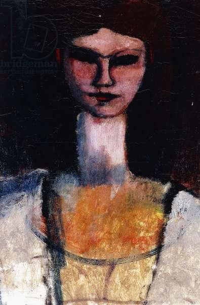 Bust of a Young Woman; Buste de Jeune Femme, c.1910-11 (oil on canvas)