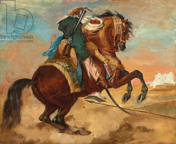 Turk Mounted on Chestnut Coloured Horse, c. 1810 (oil on canvas)