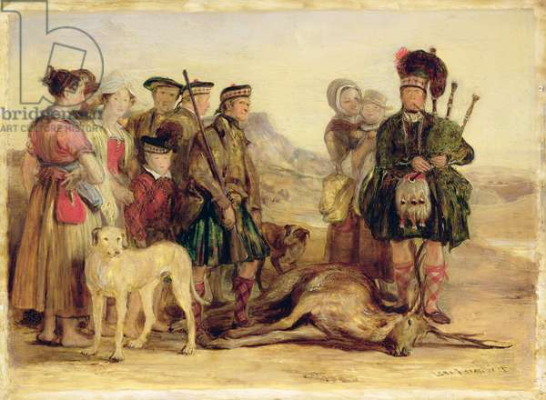The Death of the Red Deer, with McIntyre and McGregor, Stalker and Piper to the Duke of Atholl, 1821