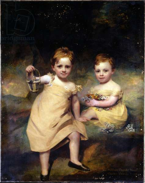 Double portrait of William Thorold Wood and Charles Thorold Wood (oil on canvas)