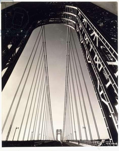 George Washington Bridge, 1931 (toned gelatin silver print)