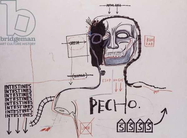 Untitled, 1983 (acrylic, coloured felt-tip pen, coloured crayon, charcoal, graph)