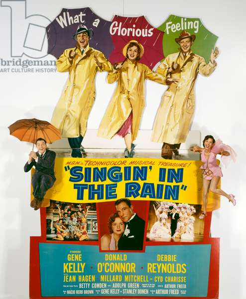 Singin' in the Rain, 1952 (lithograph in colours)