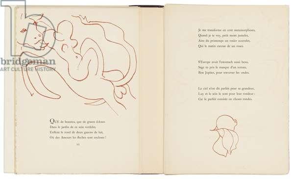 Florilège des Amours de Ronsard, 1948 (colour litho)