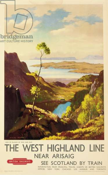 The West Highland Line near Arisaig, poster advertising British Railways (colour litho)