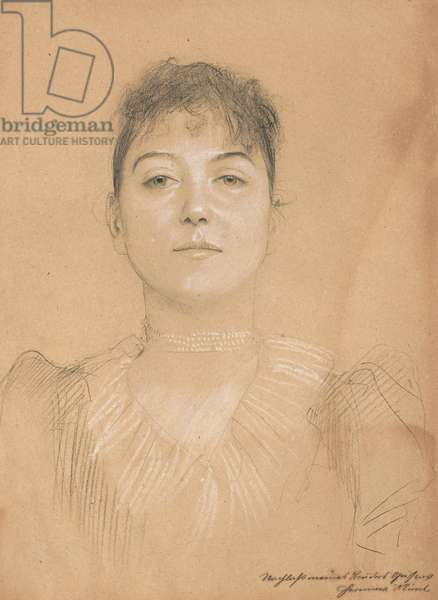 Portrait of a Woman, c.1890-1891 (charcoal with white heightening on buff paper)