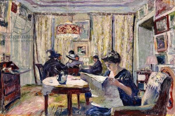 Bridge Players, c.1911 (oil on canvas)