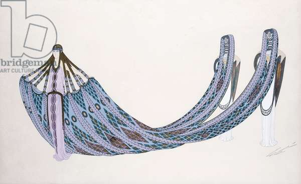 Costume design for 'The River', Folies Bergere, c.1925 (gouache and metallic paint)