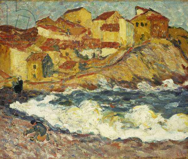 Un Village au Bord de la Mer, 1896-1897 (oil on burlap)