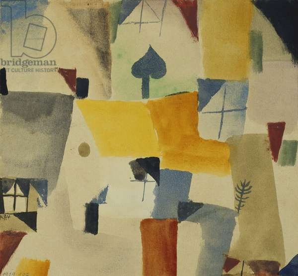 Fenster, 1919 (watercolour on paper)