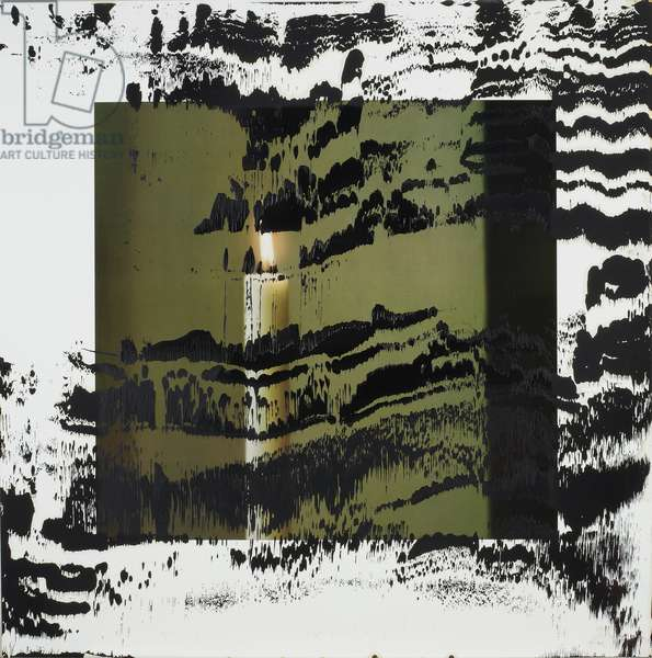 Kerze II (B. 66), 1989 (colour litho with oil paint)